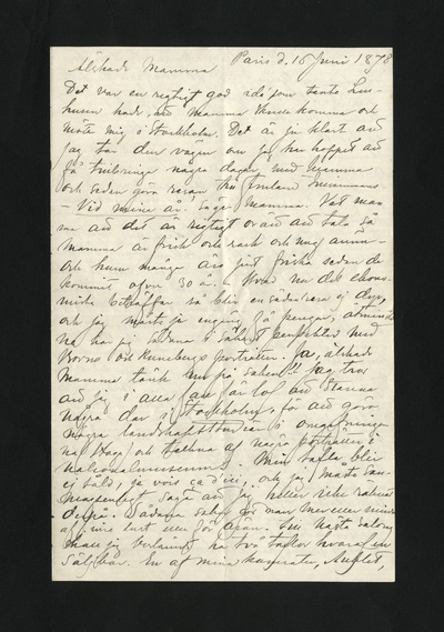 Paris d. 16 Juni 1878