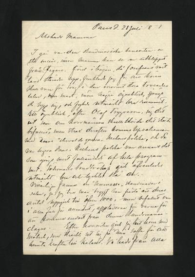 Paris d. 28 Juli 1878