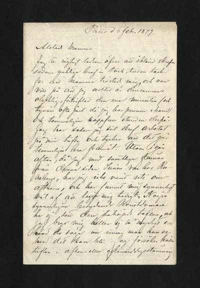 Paris d 6 febr. 1879.