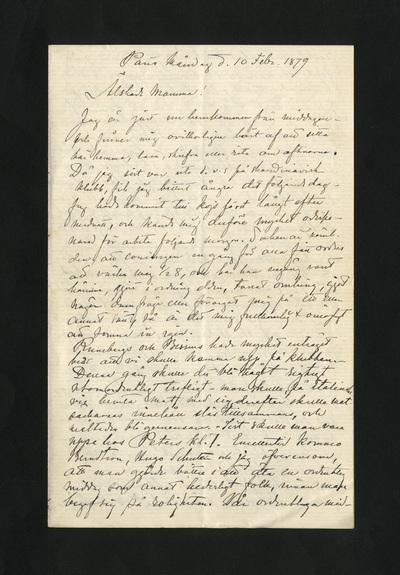 Paris Måndag d. 10 Febr. 1879