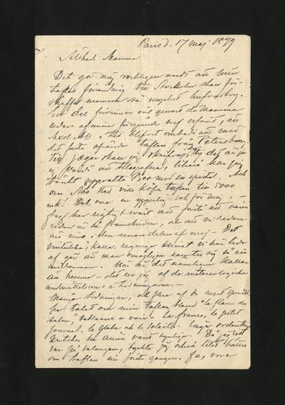 Paris d. 17 maj 1879