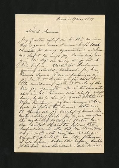 Paris d. 19 Maj 1879
