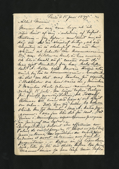 Paris d. 15 juni 1879