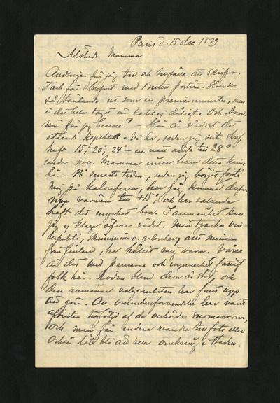 Paris d. 15 dec 1879