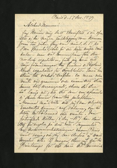 Paris d. 17 dec. 1879