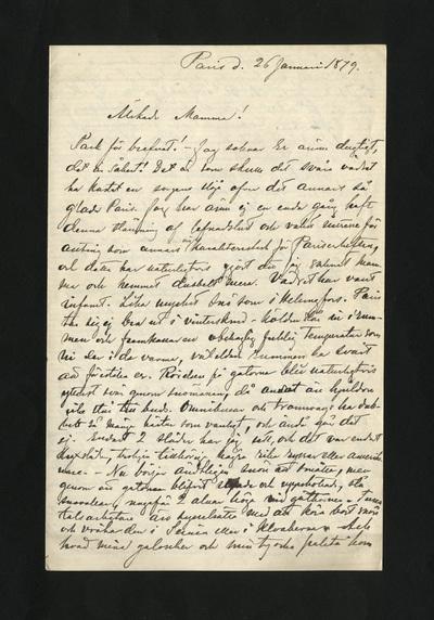 Paris d. 26 Januari 1879.