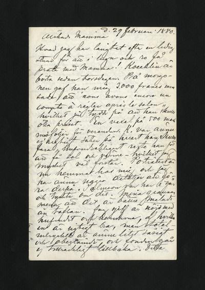 d. 29 Februari 1880.