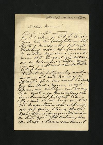 Paris d. 10 mars 1880.
