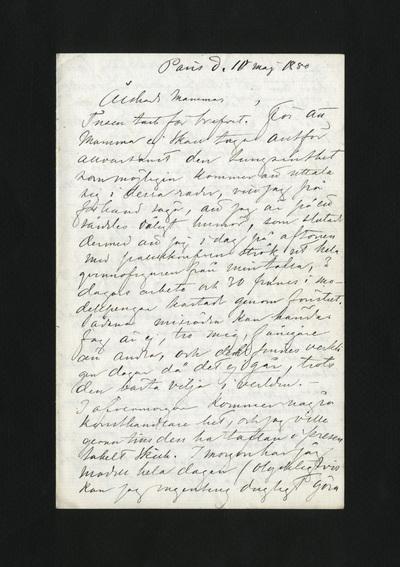 Paris d. 11 maj 1880