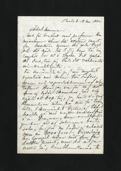Paris d. 18 maj 1880.