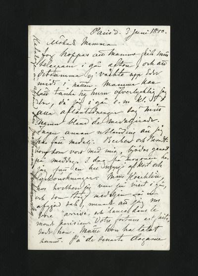 Paris d. 3 Juni 1880.