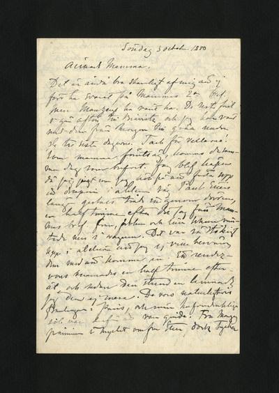 Söndag 3 octobre 1880