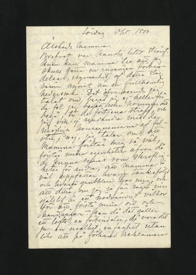 Lördag. Okt 1880