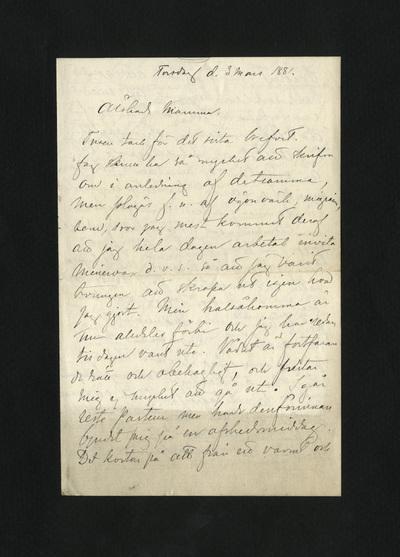 Torsdag d. 3 mars 1881.