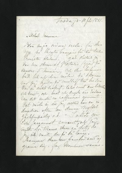 torsdag d. 10 febr 1881.
