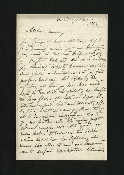 Måndag 13 mars 1882