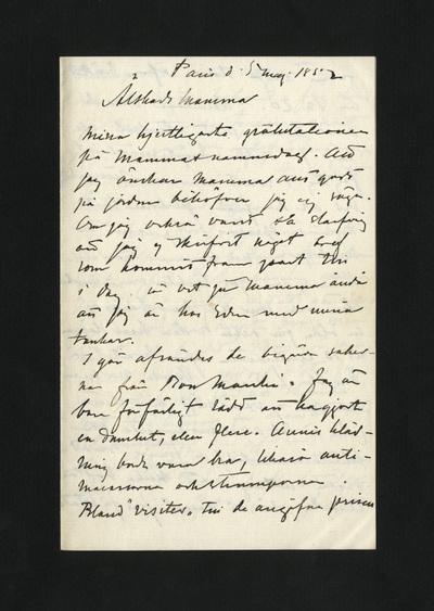 Paris d. 5 maj 1882