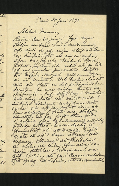 Paris 20 Juni 1895