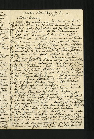 Moskva 14/26 Maj kl. 3. e.m. 1896