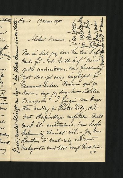 Paris 19 mars 1901