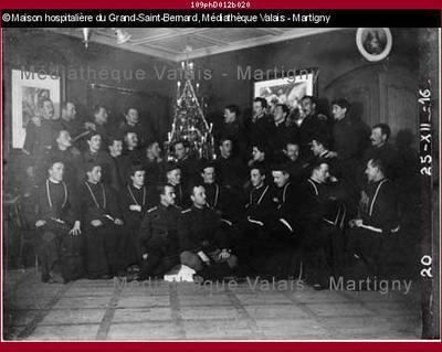 Noël des chanoines à l'hospice, Grand-Saint-Bernard