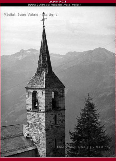 Clocher de l'église Chandolin, Val d'Anniviers