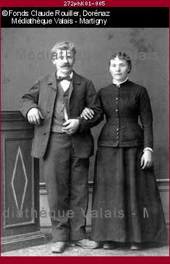 Portraits de couples non identifiés, Dorénaz