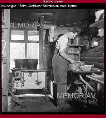 Infanterie auf Marsch, Küche