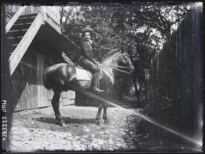 Equestrian portrait of Wiktoria Zubrzycka.