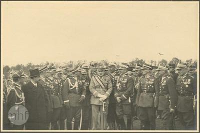 'Marshal Józef Piłsudski' Revue of the cavalry in Błonia Park. Marshal and generals.