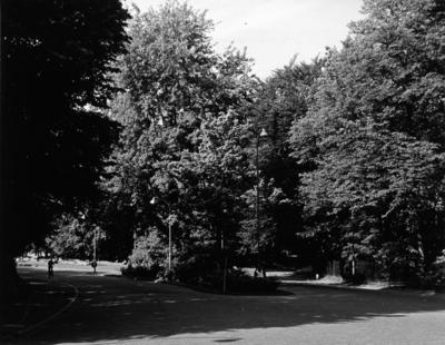 Schuttersweg. gezien vanaf de ´s-Gravelandseweg. Situatie voor de aanleg van de autoweg