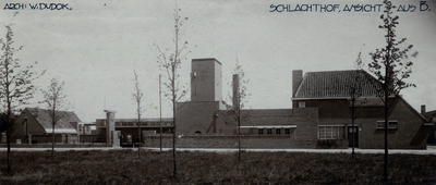 Slachthuisplein. het slachthuis, overzichtsfoto vn het plein