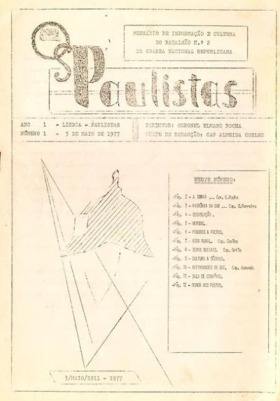 Os paulistas : mensário de informação, cultura e recreio do Batalhão nº 2 da GNR