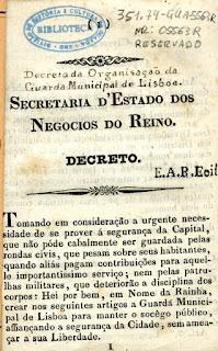 [Decreto da organização da Guarda Municipal de Lisboa] : [decreto de 3 de julho de 1834]