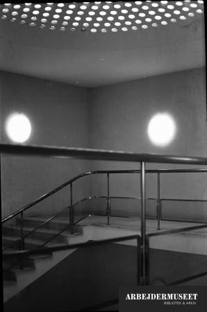 Vilhelm Lauritzens byggeri, Gladsaxe Rådhus. Loftinstallation med lys
