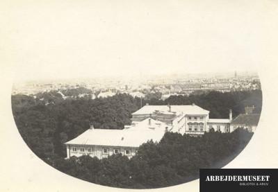 Frederiksberg Slot set sådan lidt fra oven
