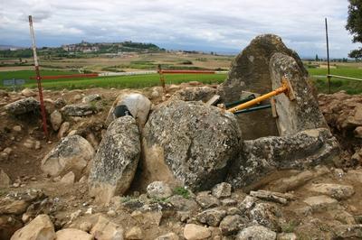 [A_Laguardia_Huesera] Documentación geométrica del dolmen de La Huesera (Laguardia, Álava)