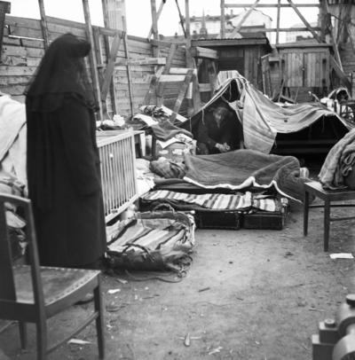 Homeless family in Hakaniemi