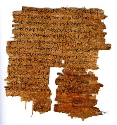 laudatio funebris des Augustus auf Agrippa (Papyrus)