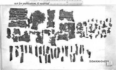 Fragmentierter Papyrus