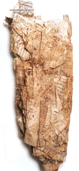 Vorderseite des Papyrus des Artemidoros von Ephesos