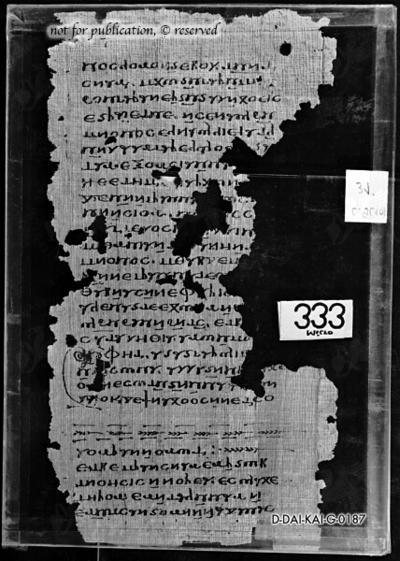 Papyrusseite aus den Nag-Hammadi-Schriften, Codex IX