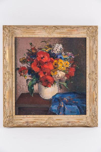 Bloemen met blauwe sjerp (zie 1942, nr -400)