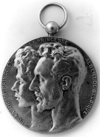 Jef Esser-de Magnée (1875-1927), medailleur, L. Dupuis, vervaardiger, Paul Fisch, medaille 't Maasland - Stockheim 1858-1909, 1909, geslagen zilver.