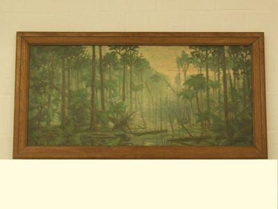 Prehistorisch woud met moeras