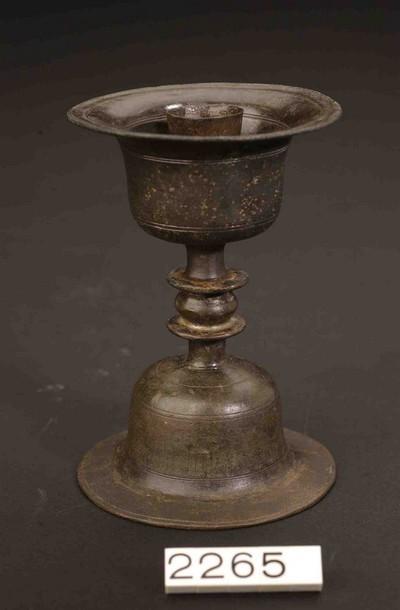 Volledige kandelaar in verzilverd brons