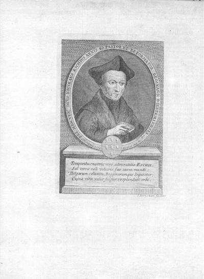 I. Berterham, prent van Nicolaus Eschius, pastoor van het Begijnhof te Diest, s.d., kopergravure.