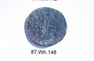 Volledige as van Vespasianus (munt) in brons