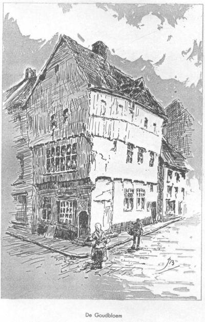 Paul Marie Bamps (1862-1932), tekenaar, Ernest Roose (1887-1965), lithograaf, map met acht prenten van oude Hasseltse gevels, s.d.