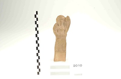 Volledige figurine van Fortuna in terracotta